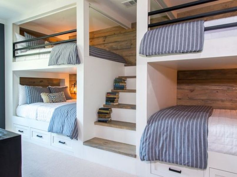 Inspiration: beautiful bedrooms for multiple children