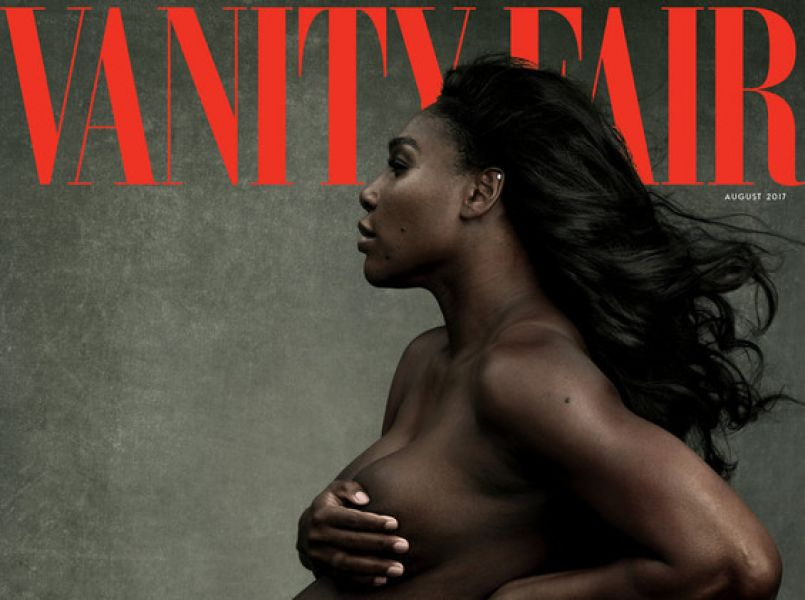 Serena Williams pregnant and naked on Vanity Fair