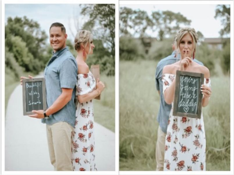 He absolutely did not expect this during the photoshoot with his wife!