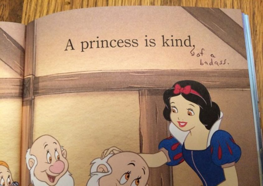 Mother gives princess book a makeover