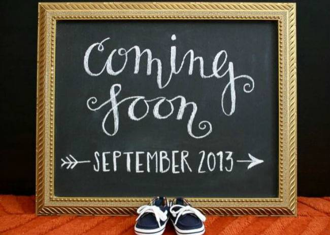 Inspiration: 10 baby announcement ideas